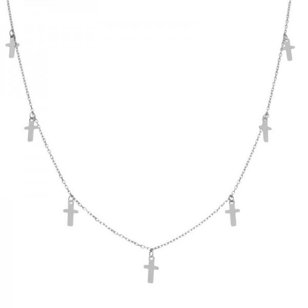 Gargantilla Plata Charma Cruces