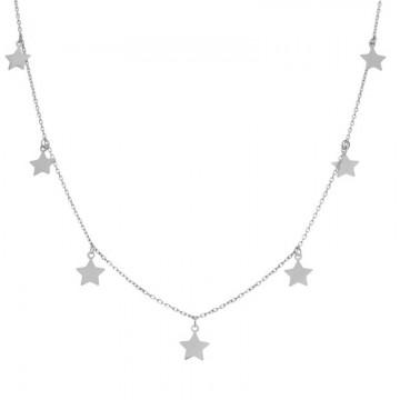 Gargantilla Plata Charms Estrellas