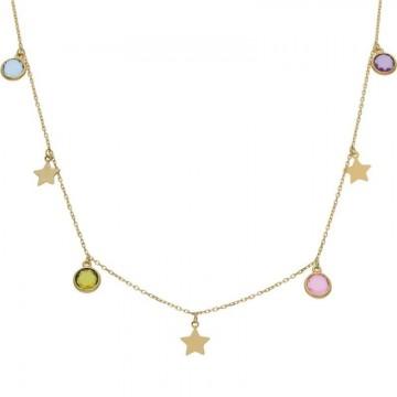 Gargantilla Oro 18kts Estrellas y Piedras