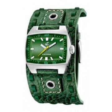 Reloj Calypso Piel Verde