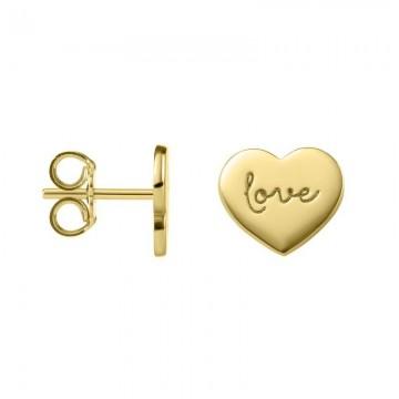 Pendientes de Oro 18kts Corazón Love