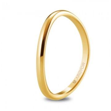 Alianza de boda en oro amarillo 18k diseño ondulado