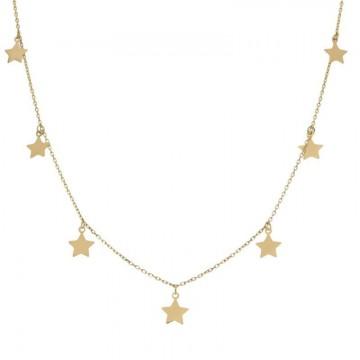 Gargantilla Oro 18kts Charms Estrellas