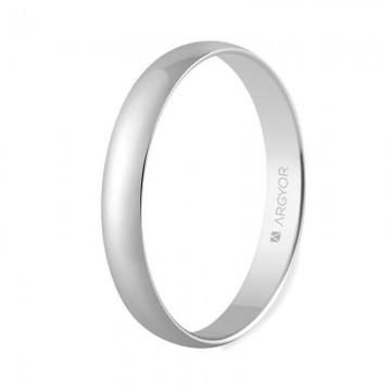 Alianza de boda oro blanco 3mm