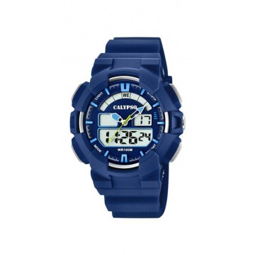 Reloj Calypso Analogico-Digital Azul K5772/3