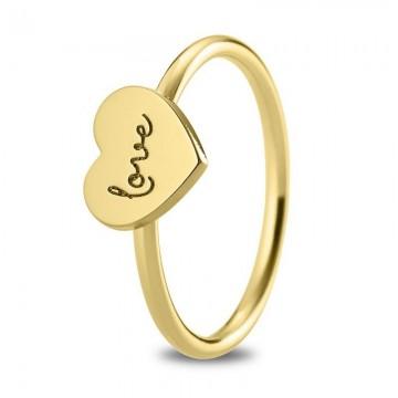 """Anillo de oro amarillo 18k Corazón """"love"""""""