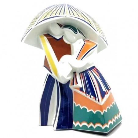 """Figura de Porcelana """"Chovendo Cubista Grande"""""""
