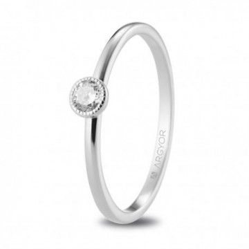 Anillo de pedida oro blanco con diamante 0.15ct