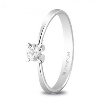 Anillo de compromiso de oro con Diamante 025ct