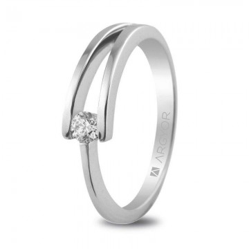 Anillo de Compromiso con Diamante 0.10ct