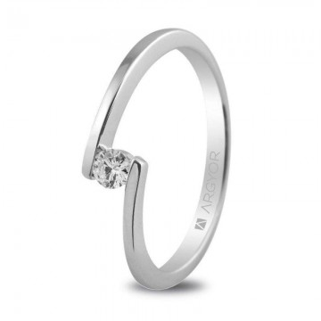 Anillo de compromiso con 1 diamante 0.10ct