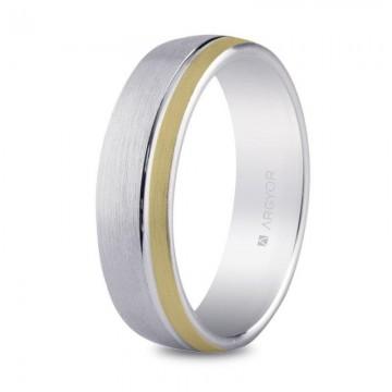 Alianza de plata de diseño para hombre 5,5mm