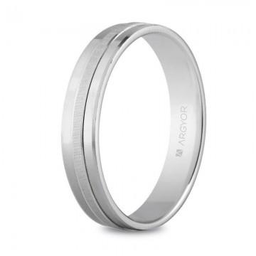 Alianza de plata 4mm confort plana