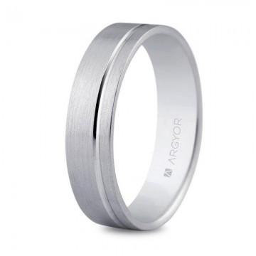 Alianza de boda en plata 5mm interior confort