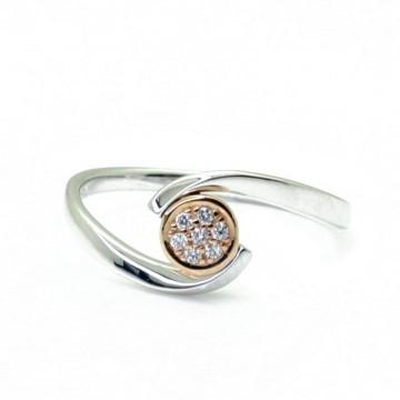 Sortija Oro Bicolor con Diamantes