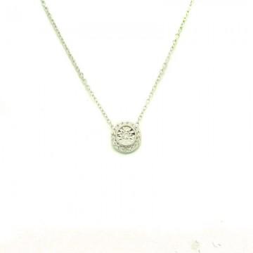 Colgante Oro Blanco con Diamante