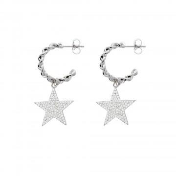Pendientes Aro Estrella Circonita