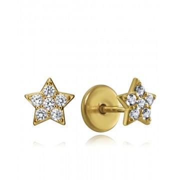 Pendientes de Plata Viceroy Estrella Bañados en Oro
