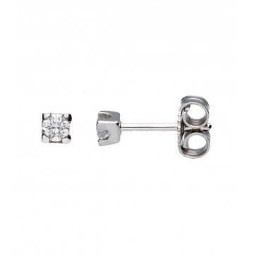 Pendientes Oro Blanco c/Diamantes 0,24 ct