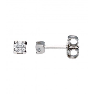 Pendientes Oro Blanco 18Kt c/Diamantes 0,40 ct