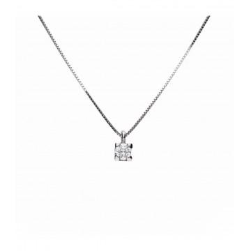 Colgante Oro Blanco 18K con Diamantes