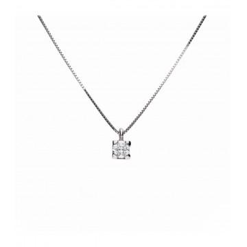 Colgante Oro Blanco 18K C/ Diamante