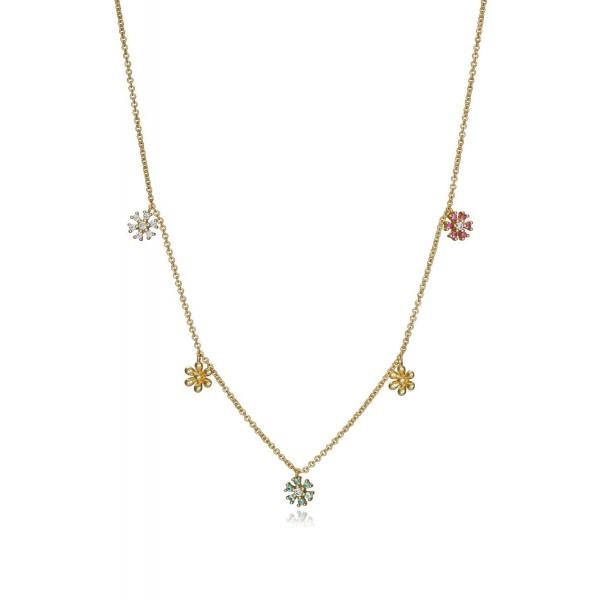 Collar plata Viceroy Flor Multicolor