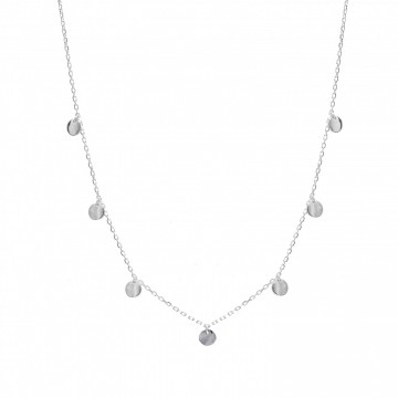 Collar de Plata con colgantes medallitas