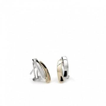 Pendientes de plata Bicolor