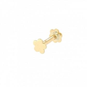 Piercing de Oro 18K Flor