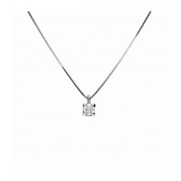 Colgante Oro Blanco 18K C/Diamante