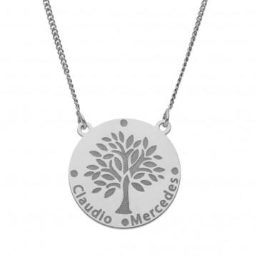 Collar árbol de la vida con nombres