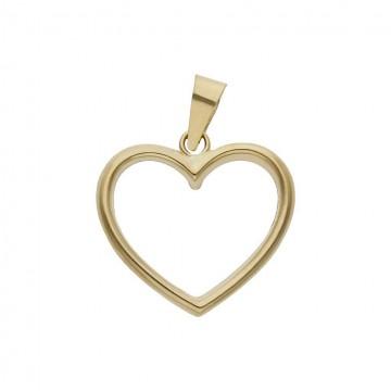 Colgante Oro 18K Corazón - 15 x 14mm