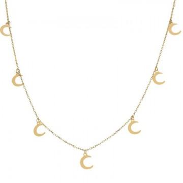 Gargantilla Oro 18kts Charms lunas