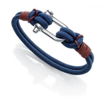 Pulsera de acero y cordón azul Viceroy