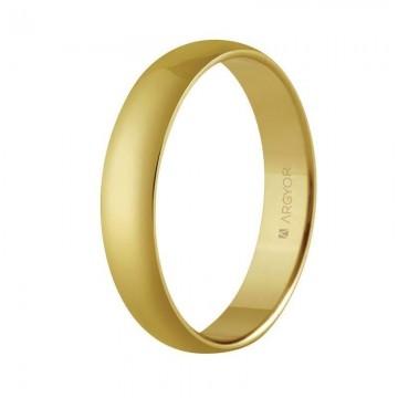 Alianza de boda en oro clásica confort 4mm