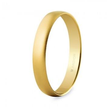 Alianza de boda oro amarillo 3,5mm efecto arena